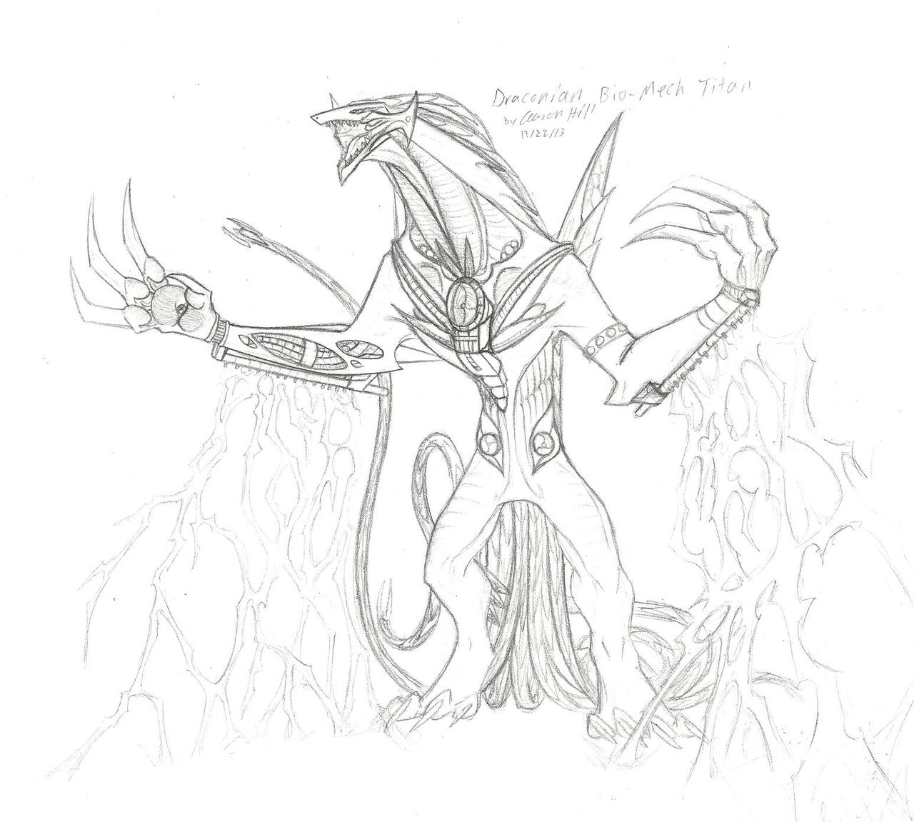 Draconian Bio-mech Titan by Sorteagan