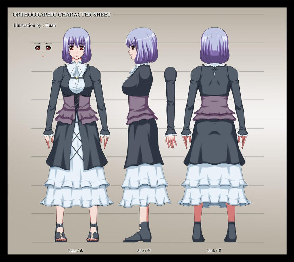 Orthographic Character Sample (moderate) by toukairin
