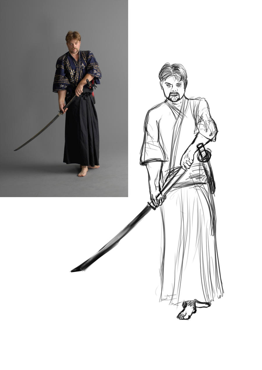 Displaying 20 gt images for samurai pose reference