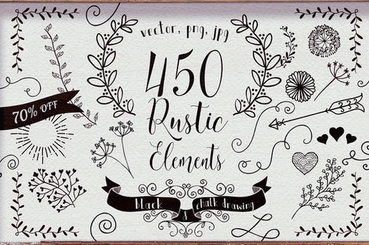 450 Rustic Elements 70% OFF by HelgaHelgy