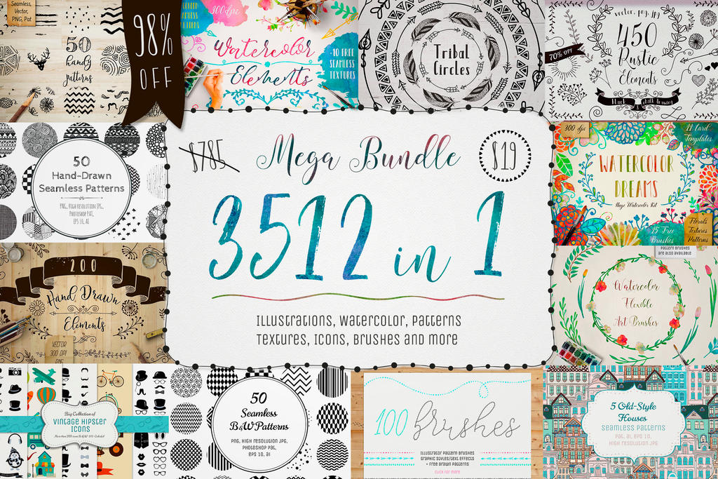 3512 in 1 - MEGA BUNDLE - 98% OFF by HelgaHelgy