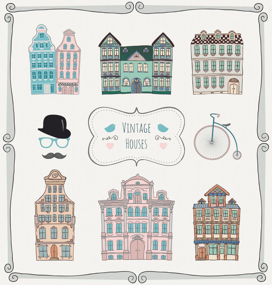 Freebie of the week! Vintage Doodle Icons by HelgaHelgy