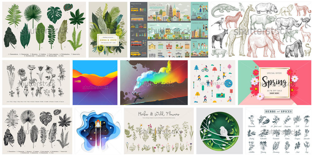 Best Illustrations ever on Shutterstock by HelgaHelgy