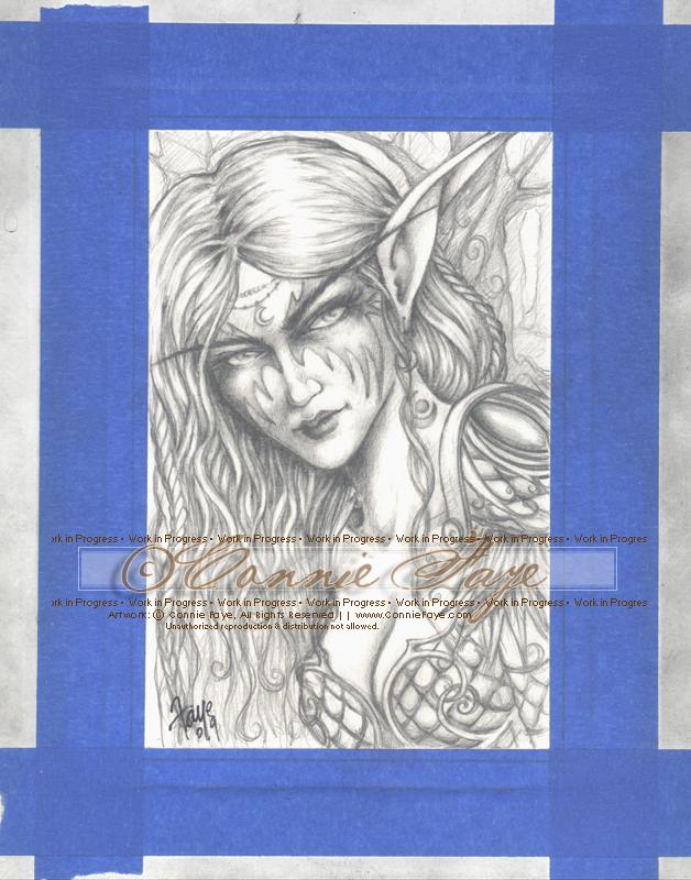 Night Elf Druid in progress by ConnieFaye