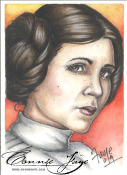 Leia Carrie Fisher PSC by ConnieFaye