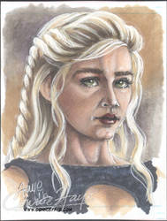 Daenerys Targaryen Artist Sketch Card