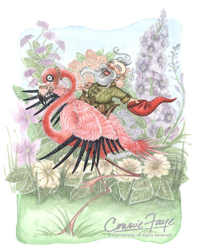 Flamingo Rider by ConnieFaye