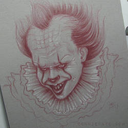 Pennywise Tuscan Red Toned Grey Sketch