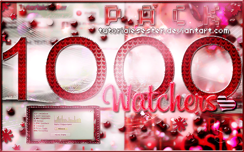 +1000Watchers|Pack| by TutorialesEster