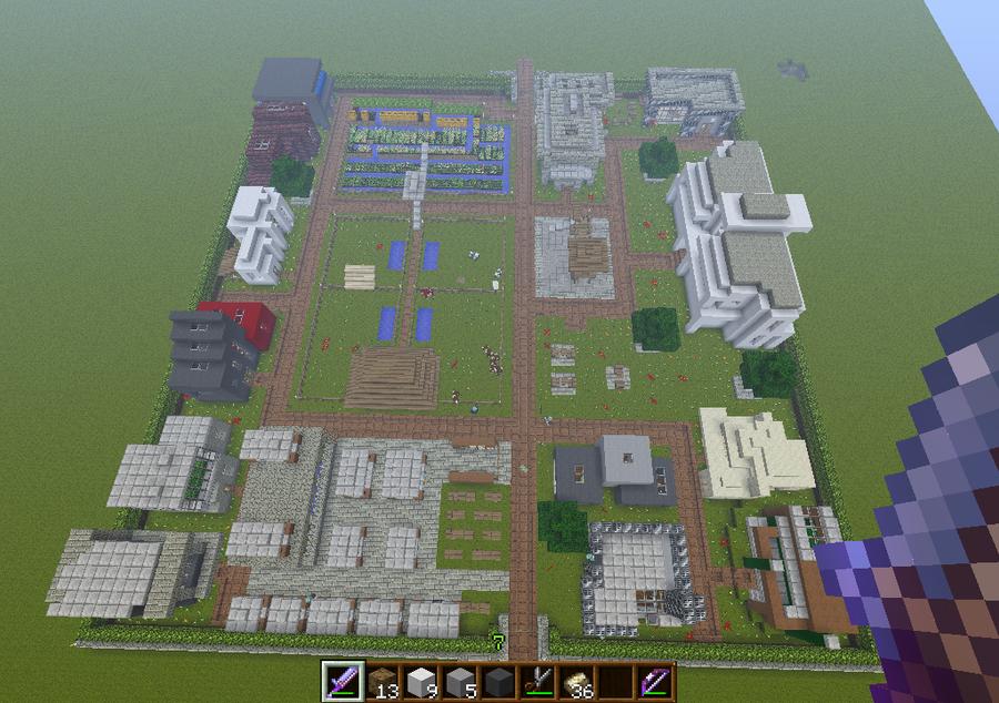 minecraft modern village by PlasmaGelCookie on DeviantArt