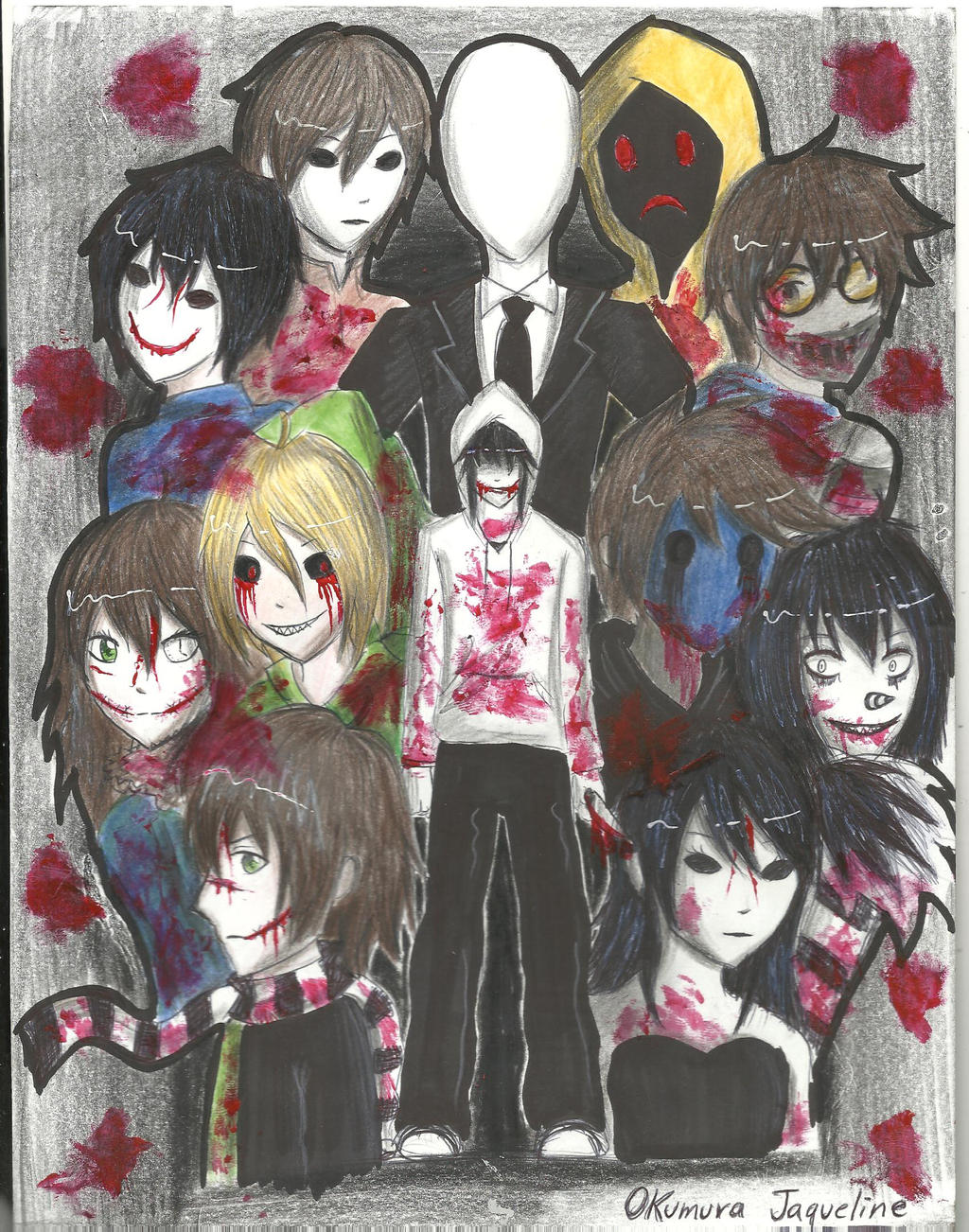 Creepypastas Family by OkumuraJaqueline on DeviantArt