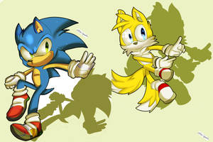 :CE: Sonic and Tails by xXRed-InfernoXx