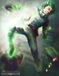 Smash! - My Hero Academia Deku Fanart