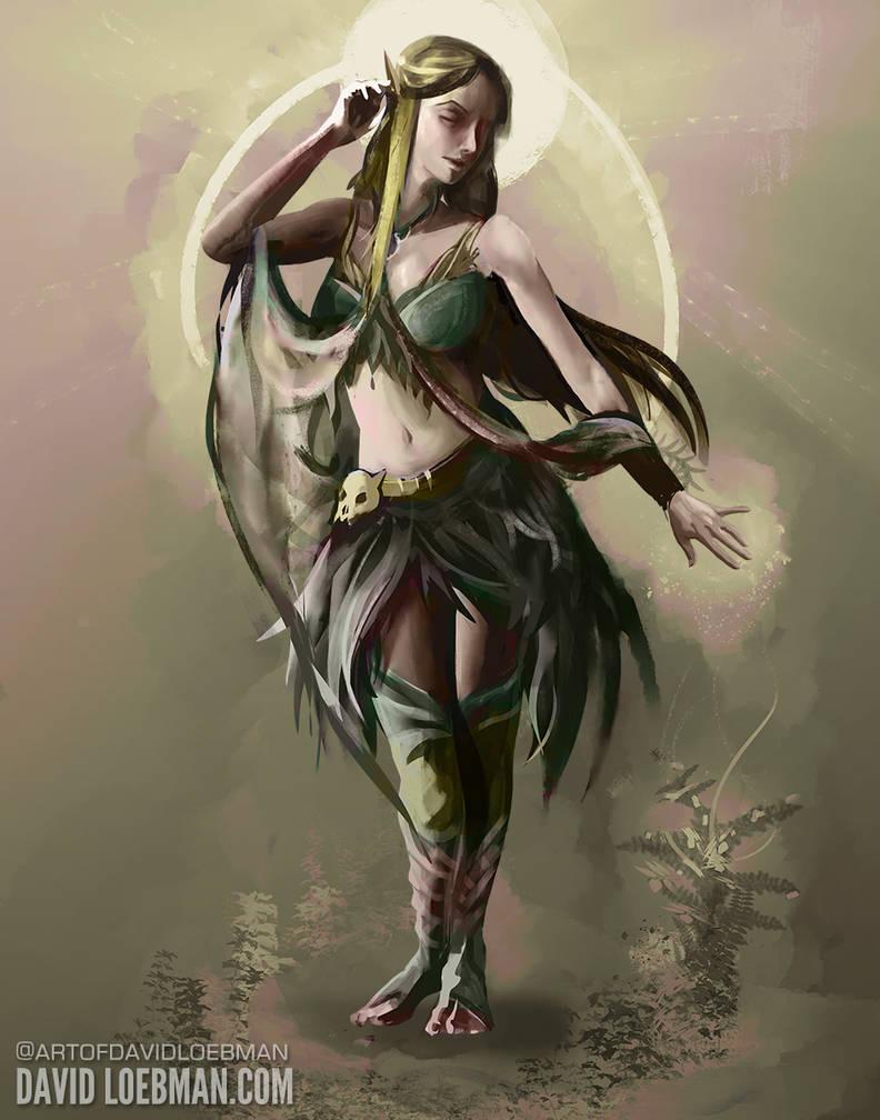 Elf Druid Contrapposto Study