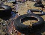 Tires on the Beach