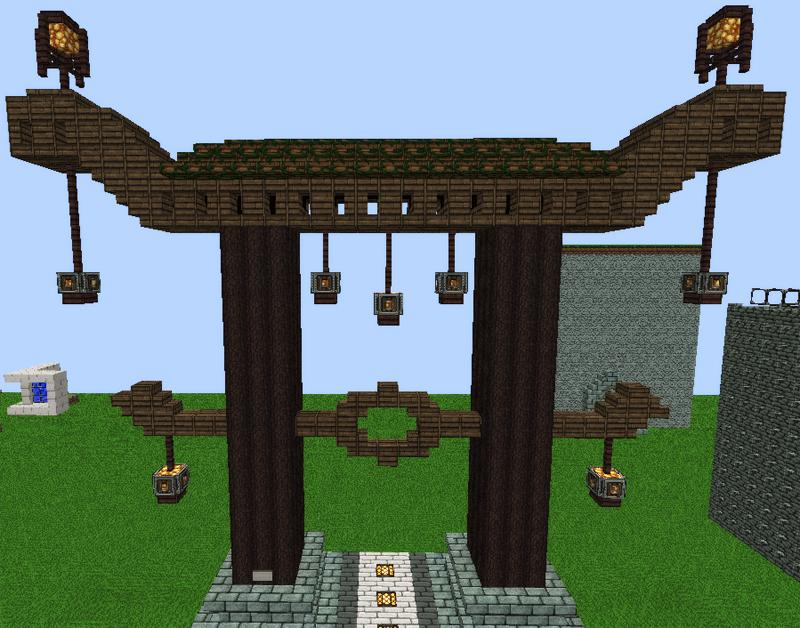 image gallery minecraft toriijapanese minecraft gate