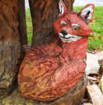 Chainsaw Carved Fox - Clearfield PA