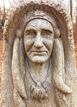 Carved Stone Face - Point Pleasant Pennsylvania