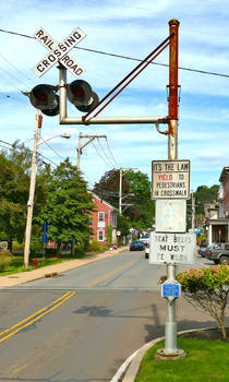 Railroad Crossing Sign - Milford New Jersey