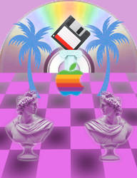 Ode To The Great Apple - Vaporwave Retro Art