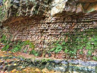 Basalt Cliff Face At Ringing Rocks Pennsylvania