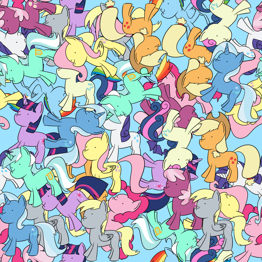 Repeating Pone Background By RapidStrike