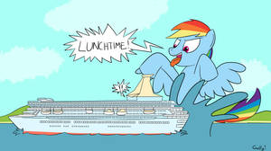 SHOCKING: Giant Blue Horse Attacks Cruise Ship by RapidStrike