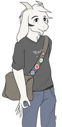 asriel except he's in college now by RapidStrike
