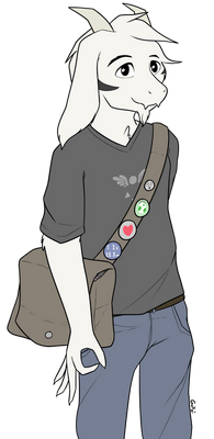 asriel except he's in college now