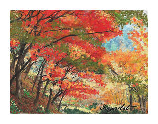 Forest in autumn by IrysArt