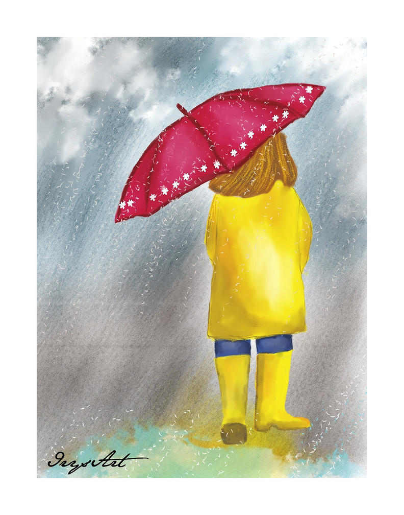 Nena bajo la lluvia by IrysArt