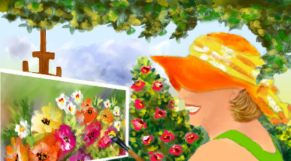 Yo pintando by IrysArt