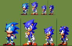 Sonic WIP spritesheet with refs