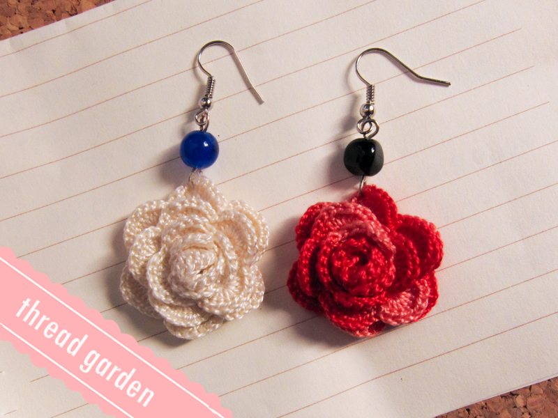 Free Crochet Patterns For Earrings : blooming :: crochet earrings by pandatama on DeviantArt