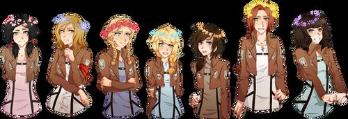 flower crown squad by pandatama