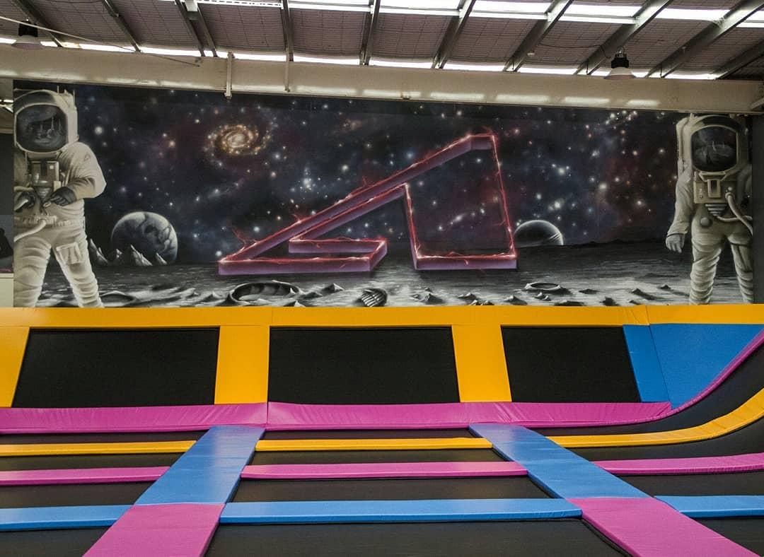 Interior Graffiti Work For Airborn Trampoline Park By Setitoffmurals On Deviantart