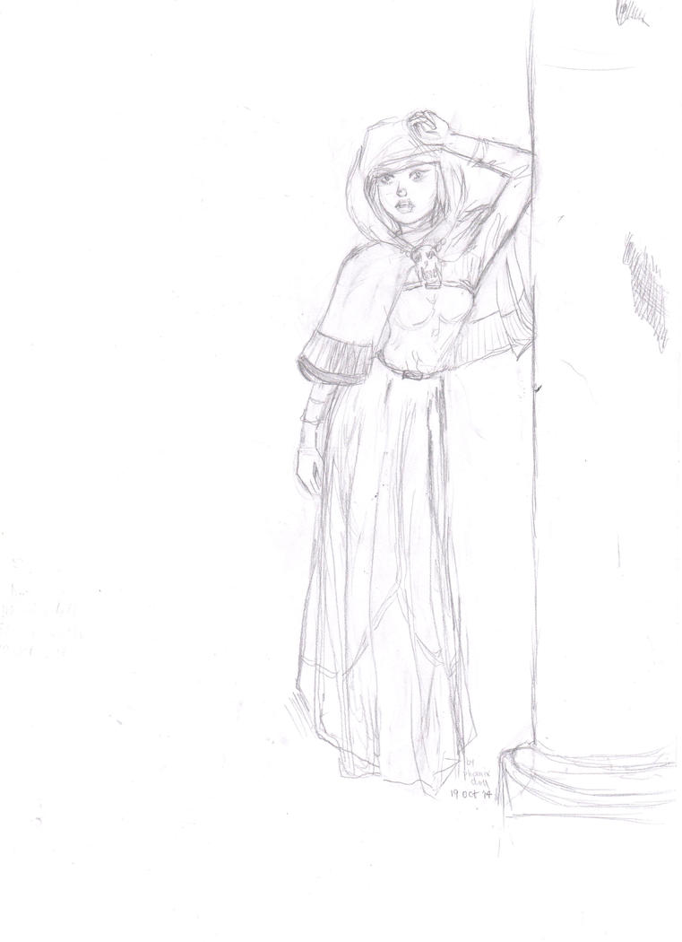 Spooky robed girl for Dimmie by phoenixdoll