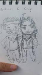 Mortimus and Kaiz  by phoenixdoll