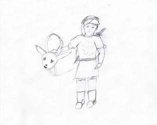 Link and Goat sketch by Jetrunner