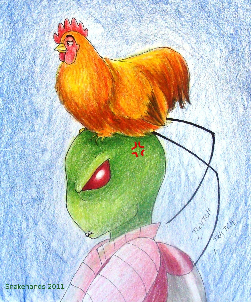 Invader Zim has Head chickens by snakehands