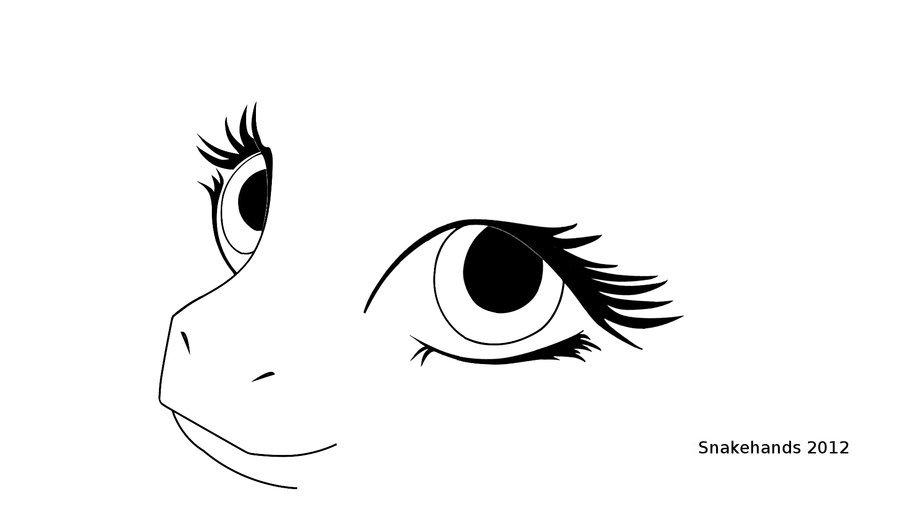 Line Art Eye : Mlp eyes line art by snakehands on deviantart