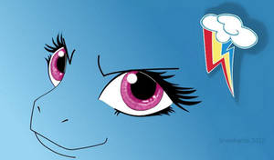 MLP Rainbow Dash eyes wallpaper