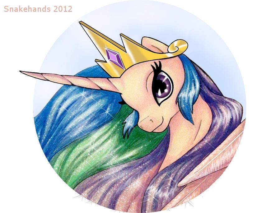 MLP FIM Princess Celestia by snakehands