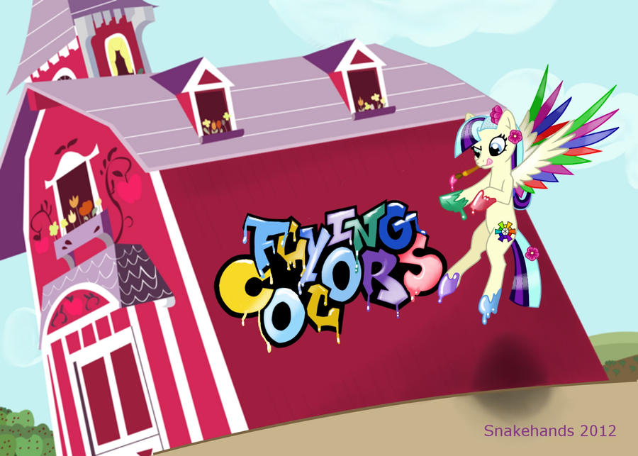 MLP OC Flying Colors adopt by snakehands