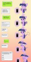 MLP Twilight and Celestia auto-correct comic