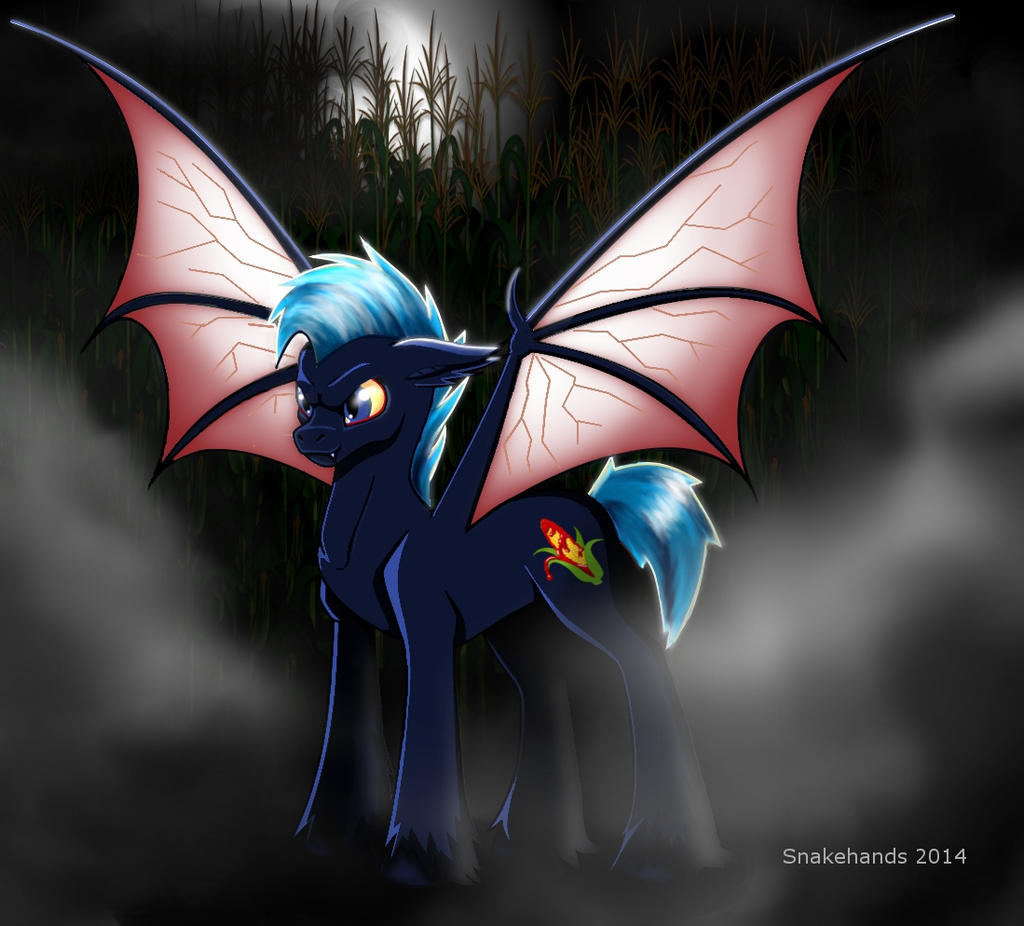 MLP OC vampire pony Night Stalker by snakehands