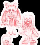 Echidna Mario and Toad + Bat Peach (Date Unknown)