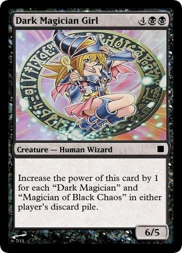 MTG - Dark Magician Girl by clampfan101