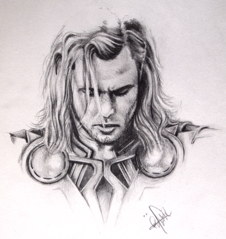 Thor Sketch By RonjaKnippers On DeviantArt
