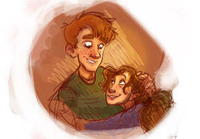 Ron and Hermione by Prydester